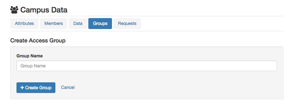 Groups -> Create